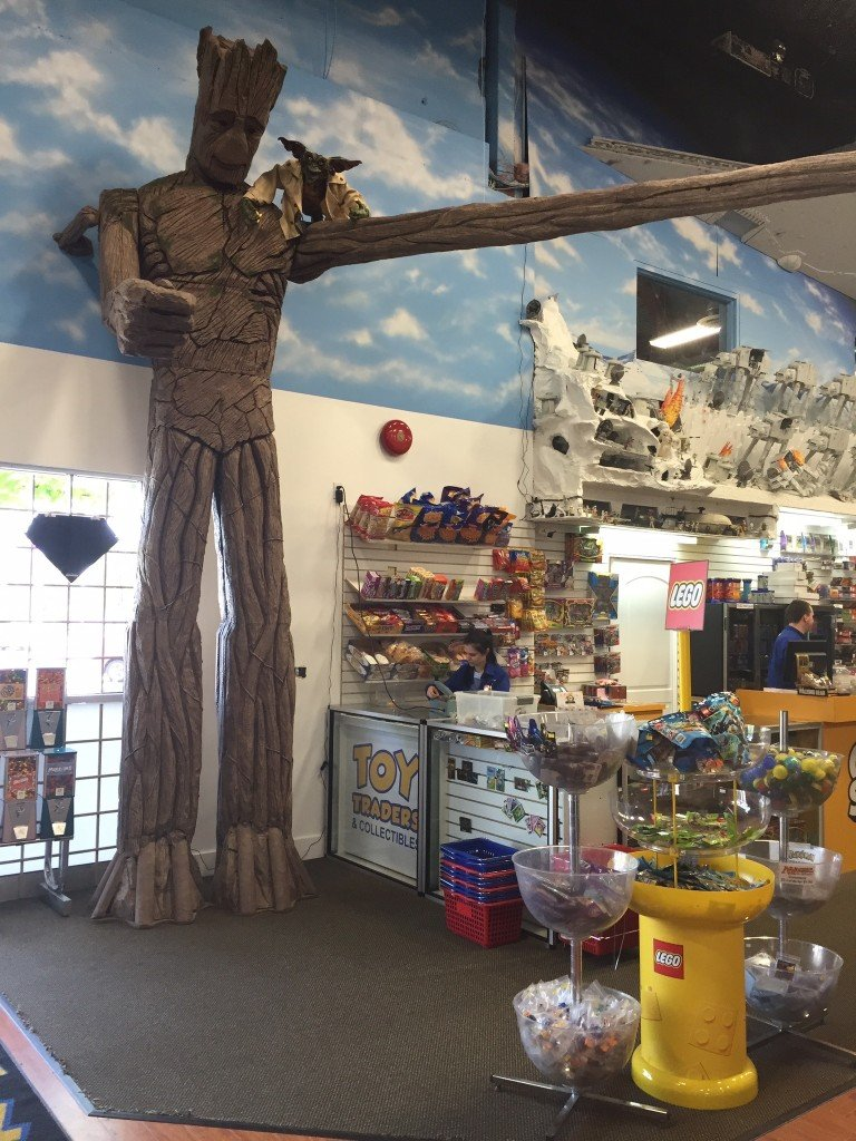 Giant TreeBeard above the entrance to Toy Traders Langley