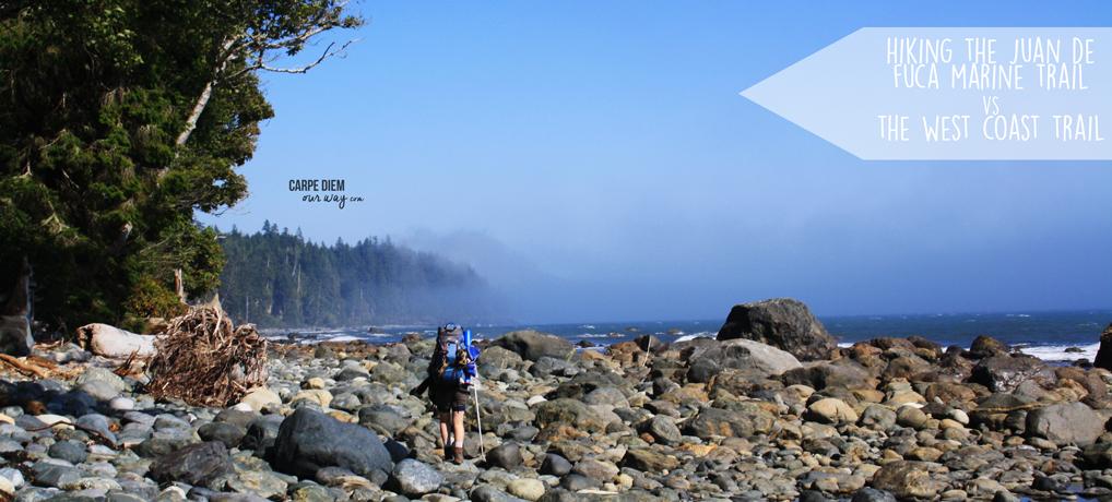 Hiking the juan de fuca marine trail versus the west coast trail british columbia canada