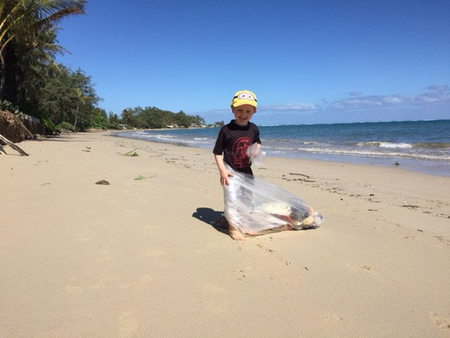 Garbage Cleanup Oahu Beach Carpe Diem OUR Way 5