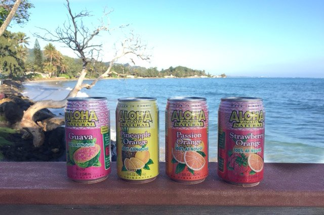Hawaiian Juices (be careful, they are full of sugar, but the kids love them)