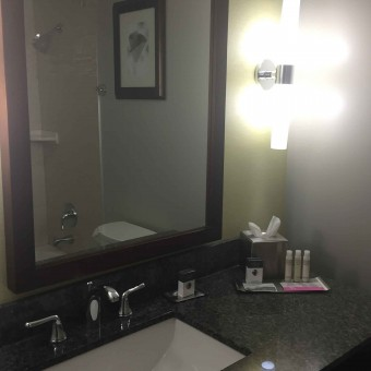 Doubletree washroom kamloops carpe diem our way