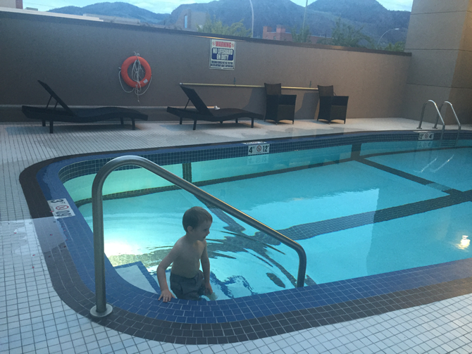 An Evening Swim at the DoubleTree Kamloops