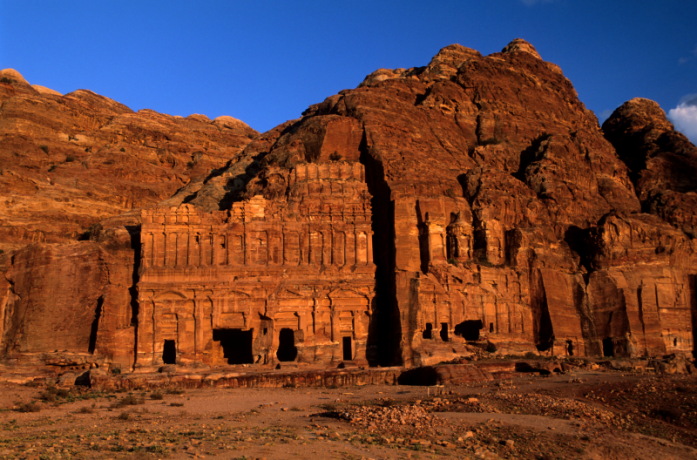 The Petra Tombs in Jordan
