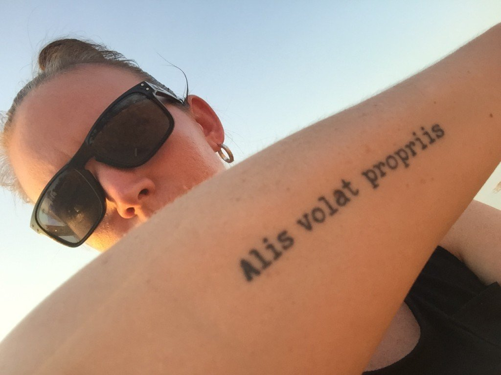 Wanderlust Tattoo Inspiration: Alis Volat Propriis