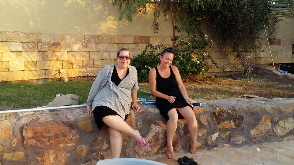 Relaxing by the Pool at the Dead Sea after a relaxing float at Earth's lowest point