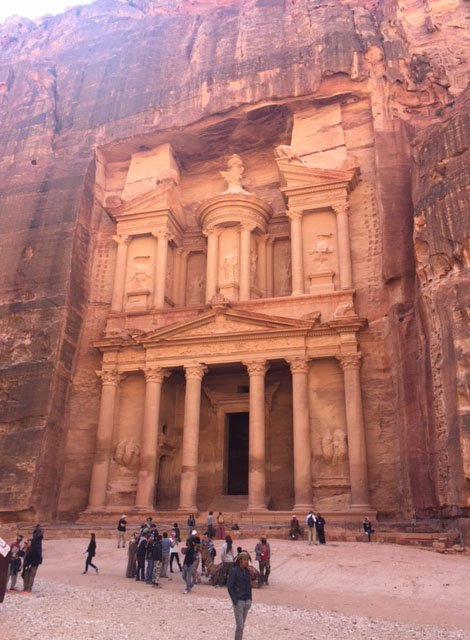 Petra - Known to Many as the Rose City in Jordan - UNESCO and Wonder of the World - The Treasury