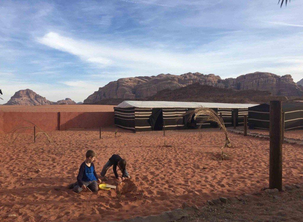 Camping in Wadi Rum Desert, Jordan
