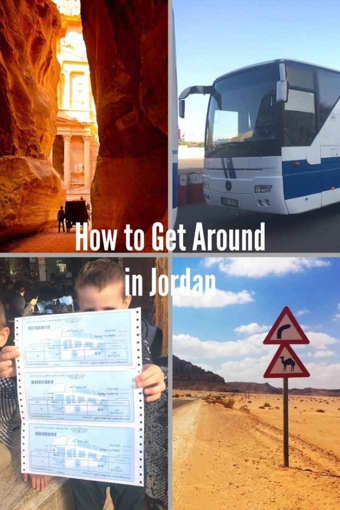 How to Get Around In Jordan - Transportation by Taxi, Tour Bus, Car Rental, JETT Bus, Airplane and Camel