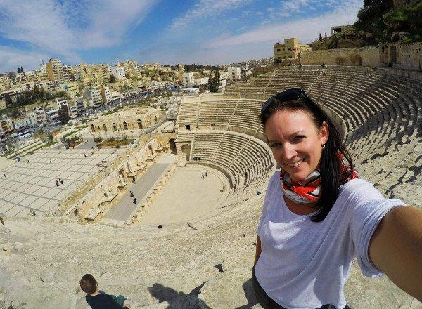 Atop the Roman Amphitheatre in Amman, Jordan