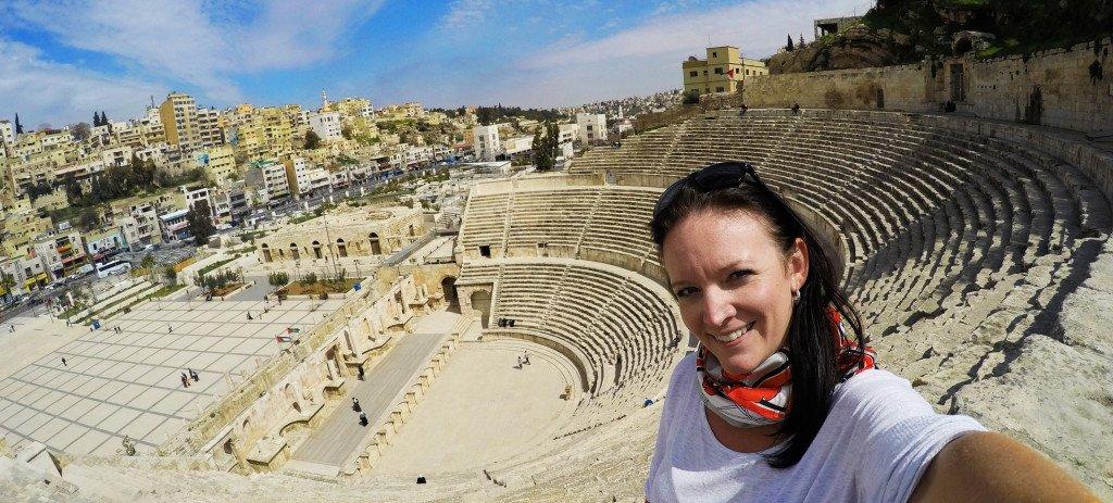 Lindsay Nieminen Carpe Diem OUR Way Amman Jordan Roman Amphitheatre