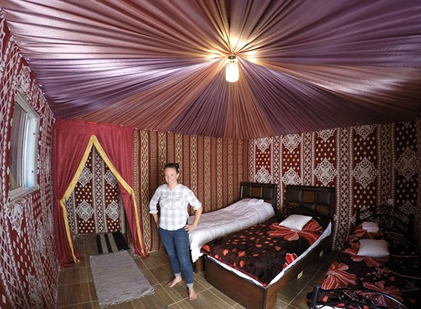 the Luxury Tent at Hasan Zawaideh Camp
