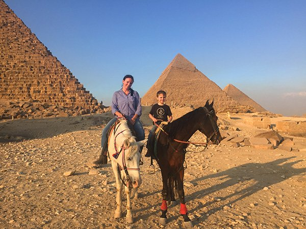 Experiencing the Pyramids on Horseback while Visiting Egypt