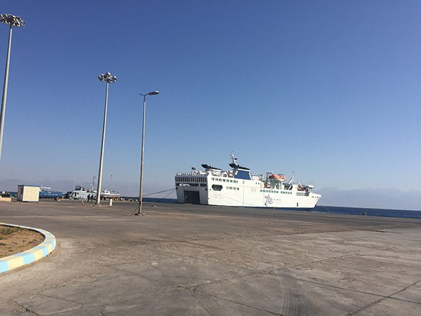 Nuweiba Ferry to Aqaba at Nuweiba Port