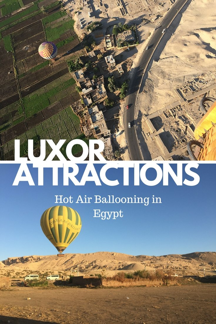 Hot Air Ballooning over Ancient Thebes and Luxor | #luxor #Egypt