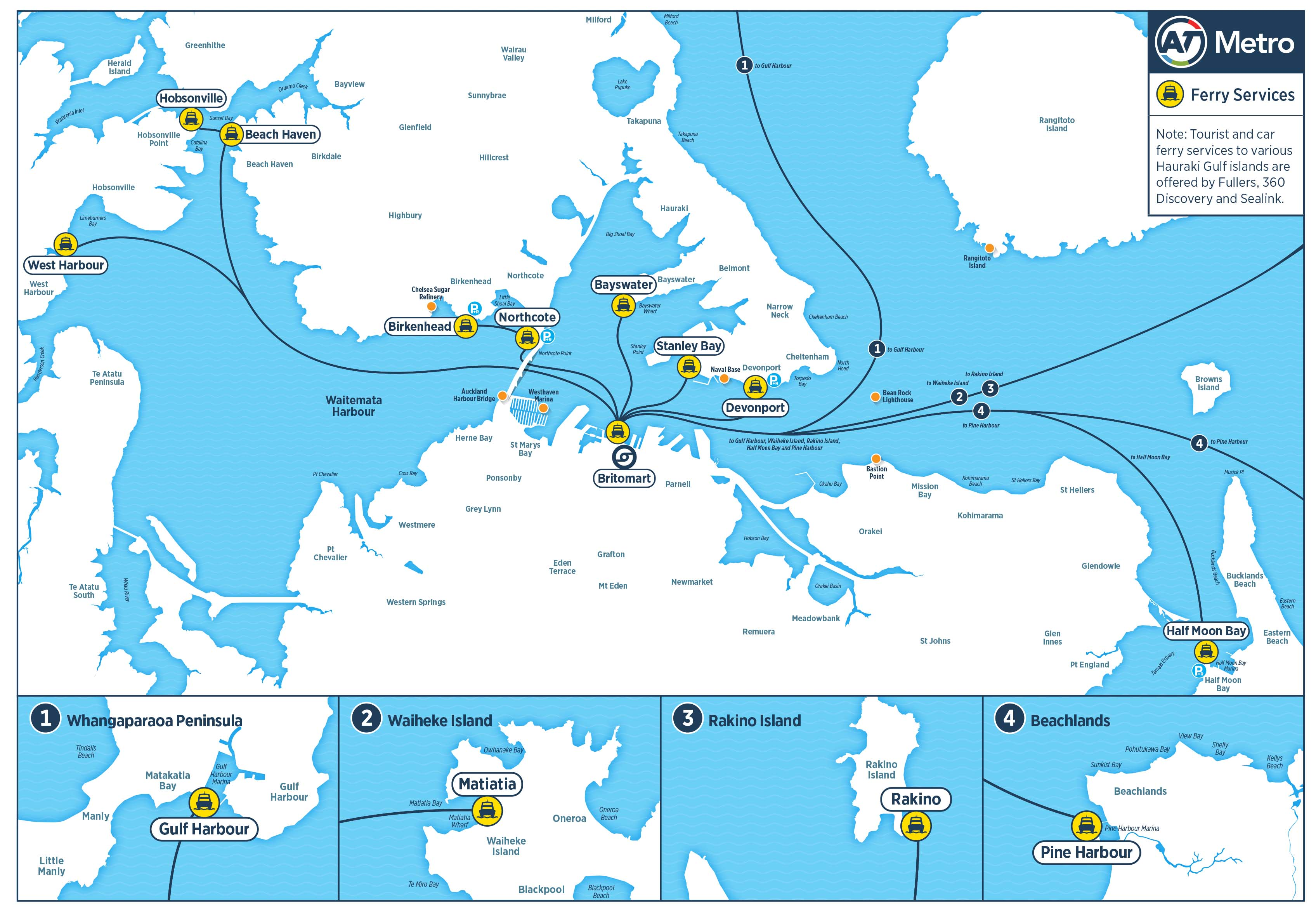 Auckland Ferry Routes