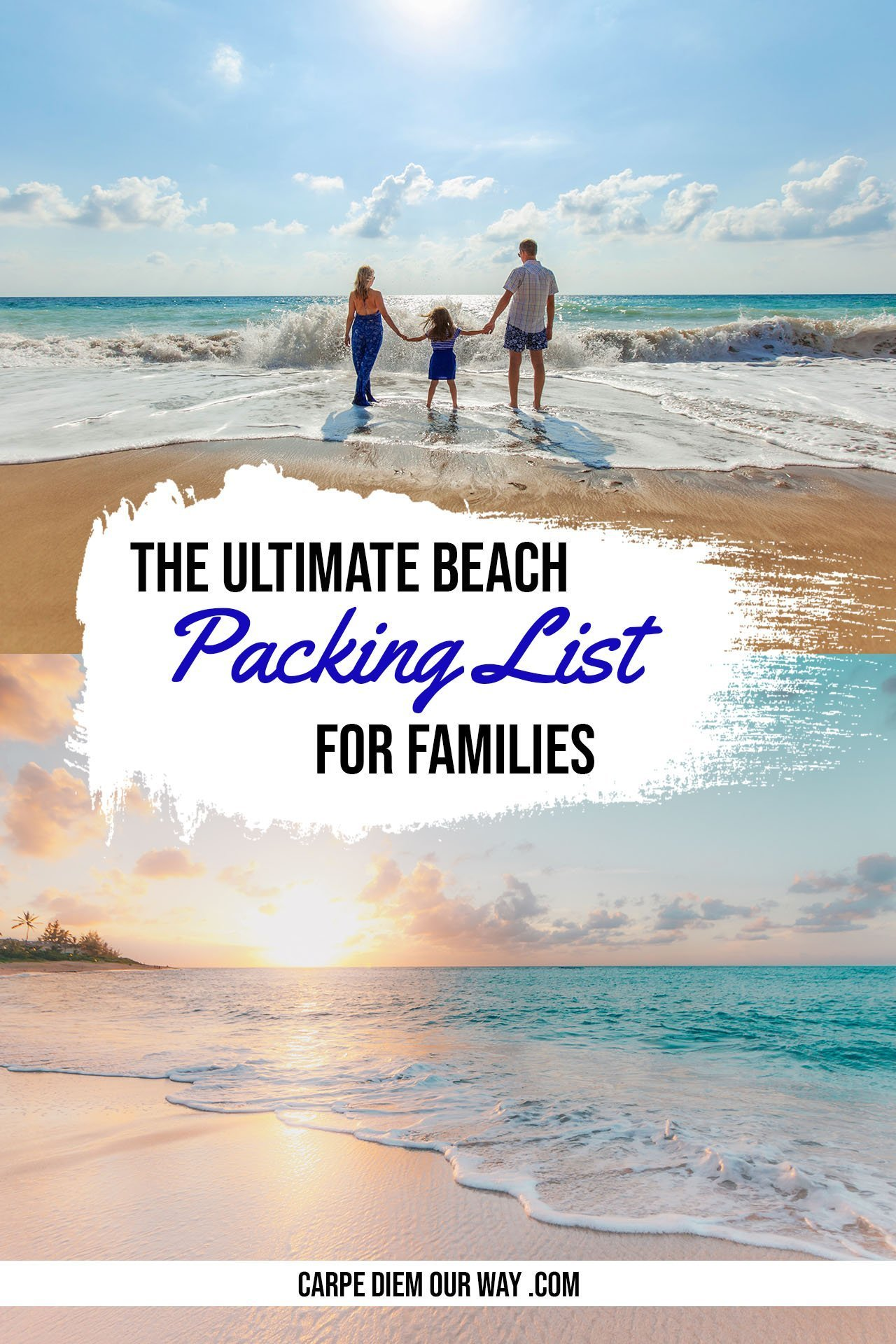 Beach Packing List with Kids