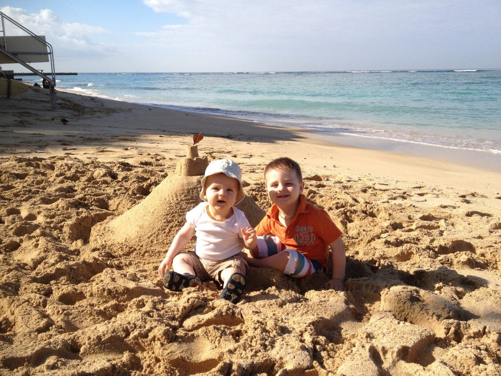 One of our many sand castles on waikiki beach