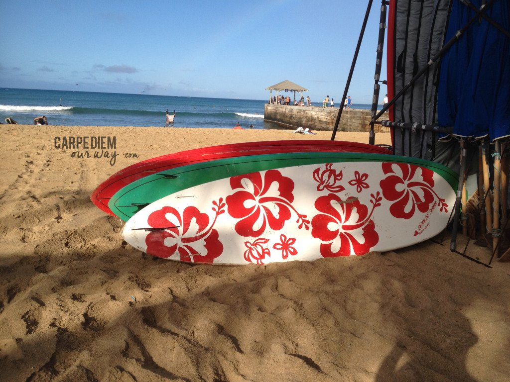 Surfboards for Rent on Waikiki Beach - A Great Picnic Spot