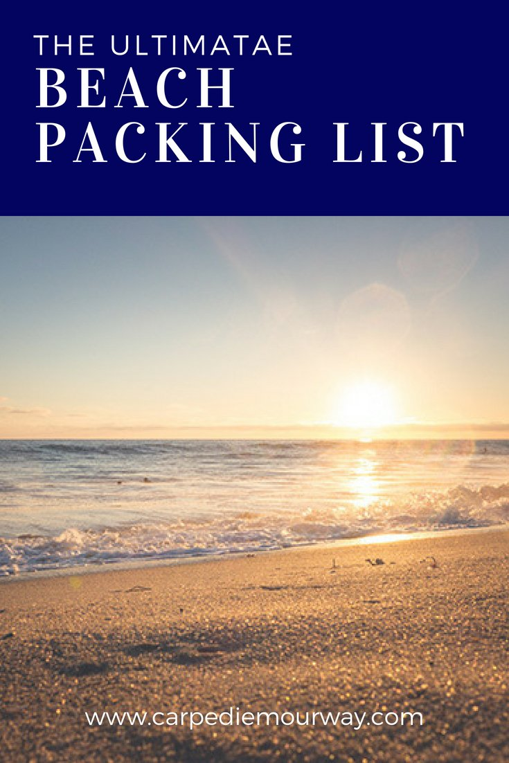 The Ultimate Beach Packing Lists for the ocean or the lake | #beach #summer #lake