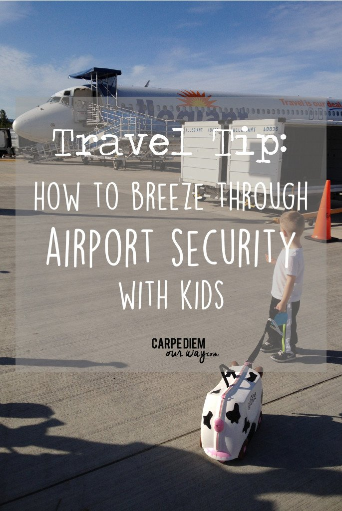 airport security with kids