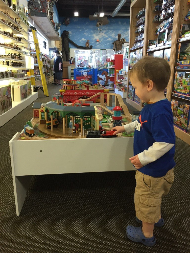 Toy Traders has so many toys you can touch and play with!