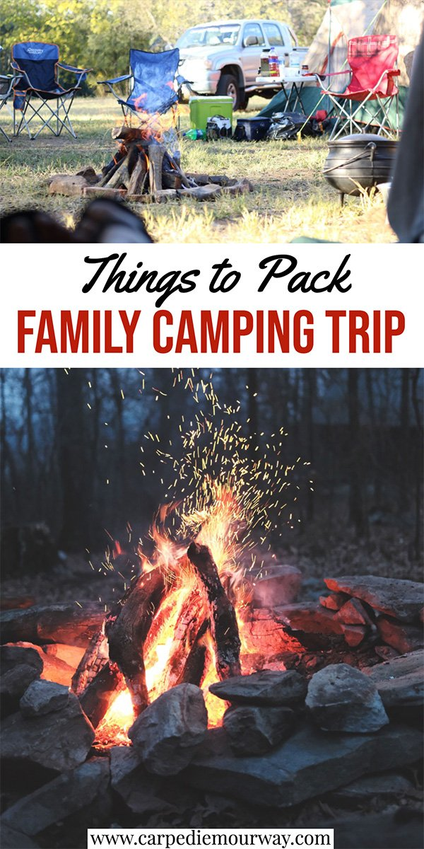 what to pack family camping list