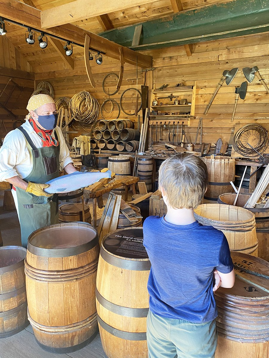 Fort Langley National Historic Site Barrel Making