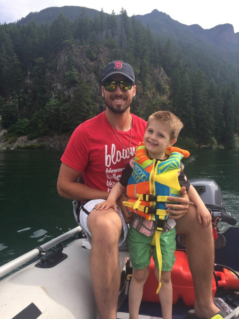 Fishing with Uncle Greg at Kawkawa Lake, Hope BC