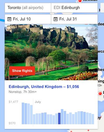 google flights - edinborough search carpe diem