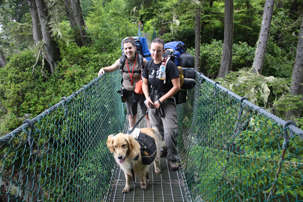 the Suspension Bridge on the Trail