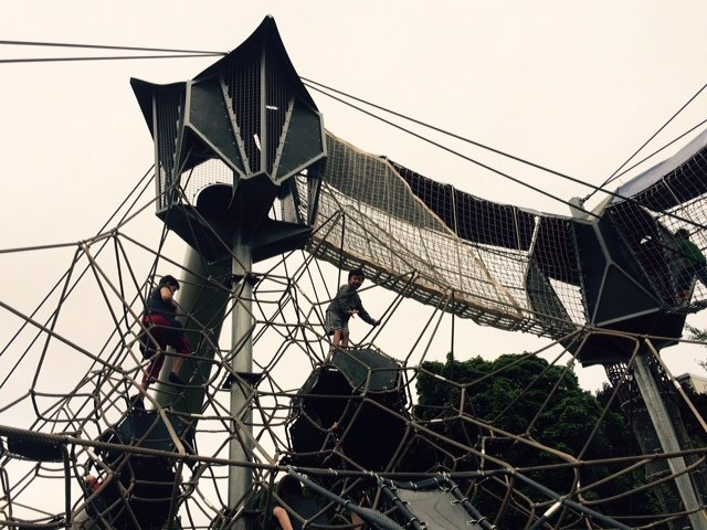 High climbing structures makes this a great park for older children