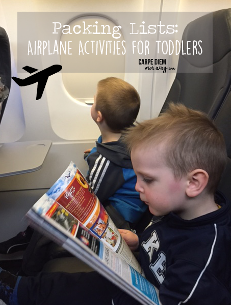 Airplane Activities for Toddlers and Preschoolers
