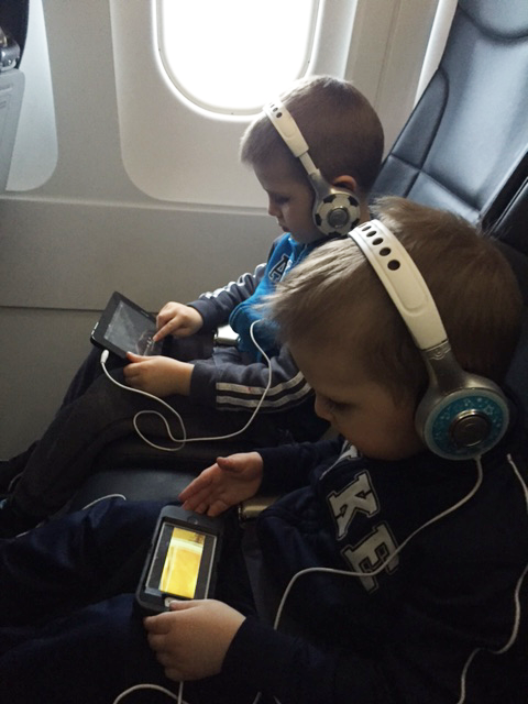 Yes we pack the iPods for some quiet time on the flight!