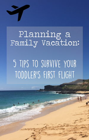 5 + Tips to Survive your Toddler's First Flight
