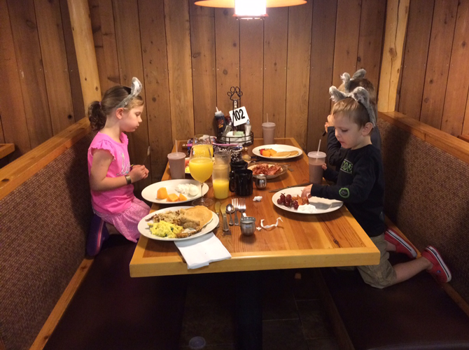 Enjoying the Loose Moose Buffet at Great Wolf Lodge Washington