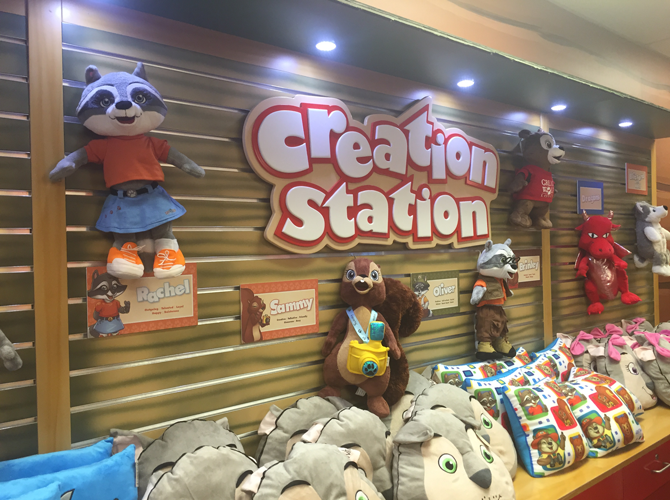 Great Wolf Kid Options at the Creation Station at Great Wolf Lodge
