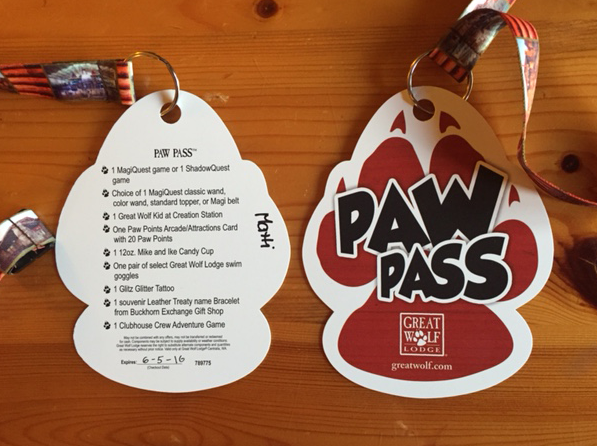 What is included in Great Wold Lodge Paw Pass Washington