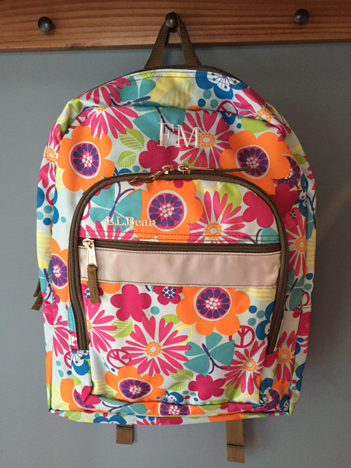 2446dfa068 We chose the Original Book Pack in Flower Power and a color matched Lunch  Box in Beach Rose.