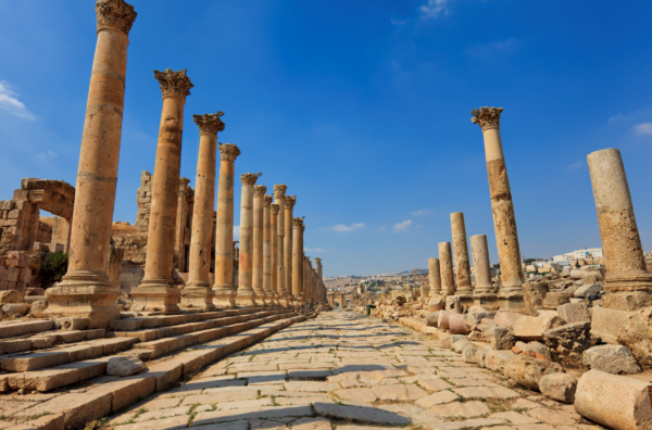 Is Jordan Safe? These streets of Jerash are almost empty