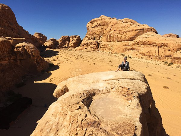 Wadi Rum Rock Bridges - Solo Female Travel in Jordan
