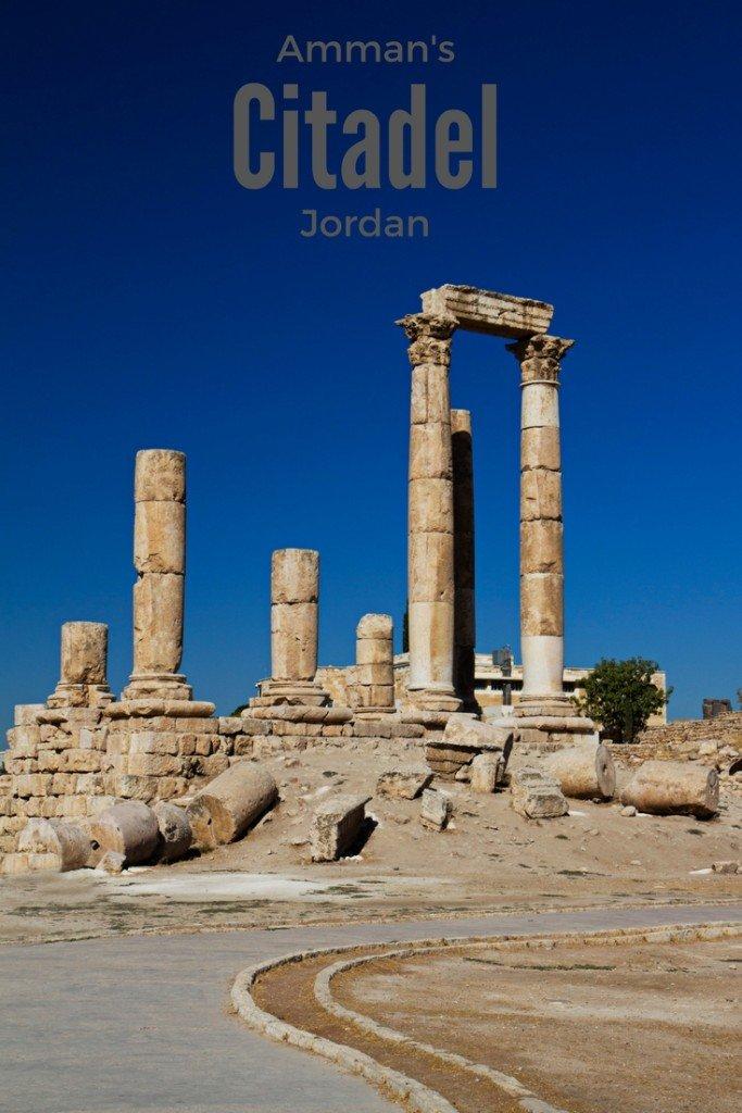 Citadel with Hercules Temple in Amman Jordan - Visiting with Kids