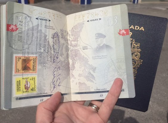 Visa Extension Jordan inside of Passport