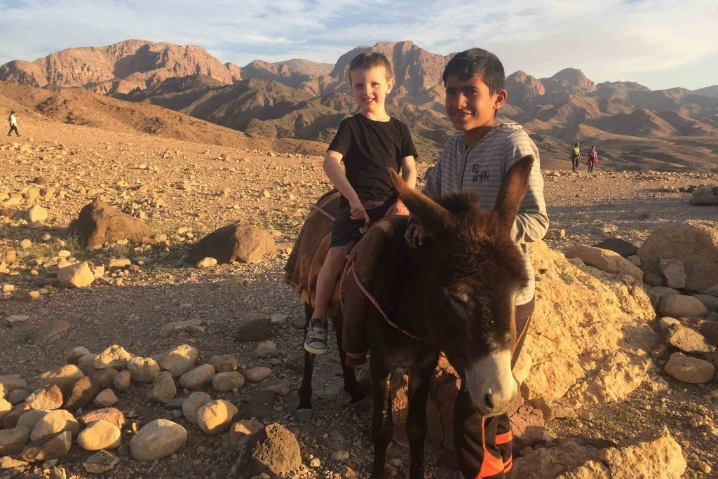 Sunset Walk we found a young bedouin boy named Yusef and his donkey
