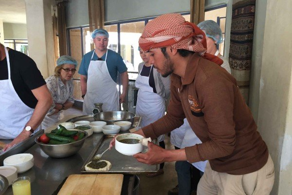 Cooking at Feynan Ecolodge