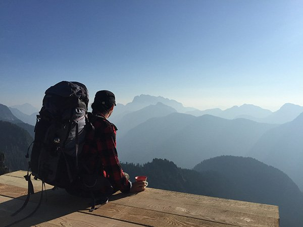 From he Summit of Golden Ears Mountain outside Vancouver, Canada