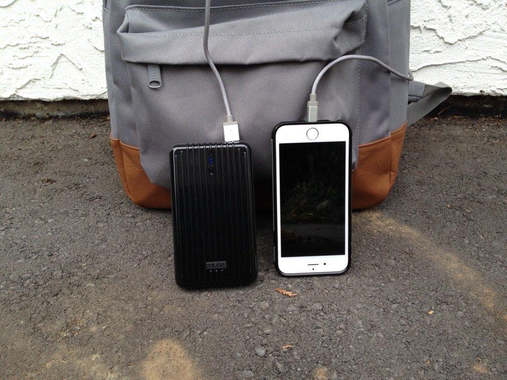 Zendure A5 beside Iphone 6