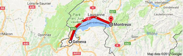 Geneva Daytrip to Montreux Chateau de Chillon