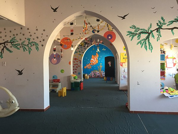 Inside of the Kids Club