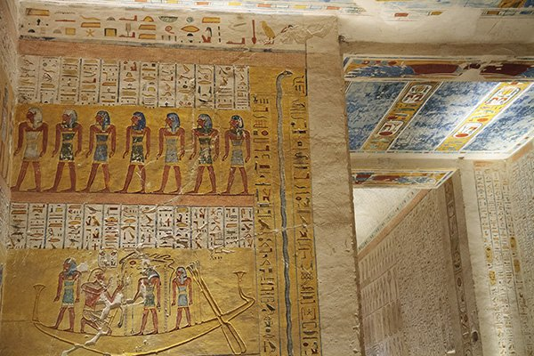 Tomb inside the Valley of the Kings in Luxor