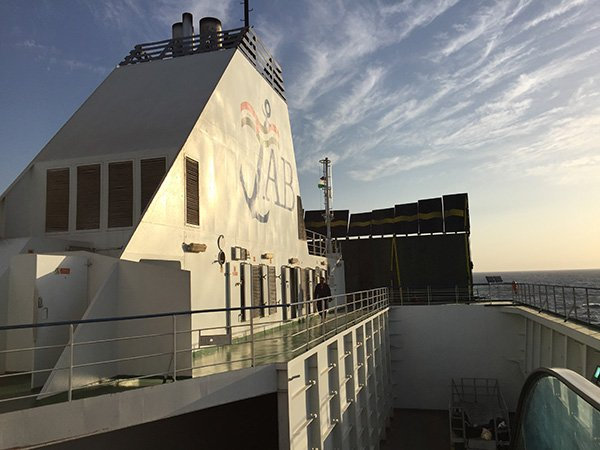 Ferry from Egypt to Jordan: AB Maritime Vessel